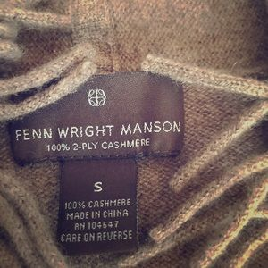 Fenn Wright Manson 100% cashmere sweater brown